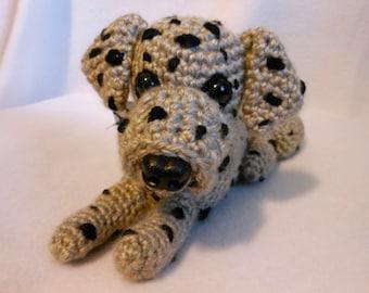 Crochet Merle Great Dane Dog, Canine, Stuffed Dog, Dane Lover, Crochet Dog, Small Great Dane Dog, Crochet Great Dane