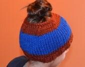 Pontytail Hat, Messy Bun Hat, Runners Hat, Ponytail Beanie, Crochet Ponytail hat, Crochet Ponytail Beanie, Crochet Hat, Knit Ponytail Hat,