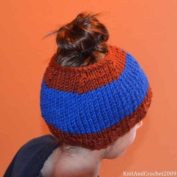 Crochet Messy Bun Beanie : Pontytail Hat, Messy Bun Hat, Runners Hat, Ponytail Beanie, Crochet ...