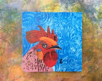 Rooster Portrait - Original