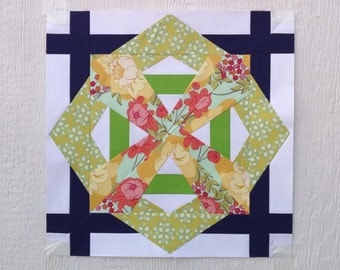 Paper Piecing - Capricorn #248 - Zodiac Block of the Month - 3 sizes
