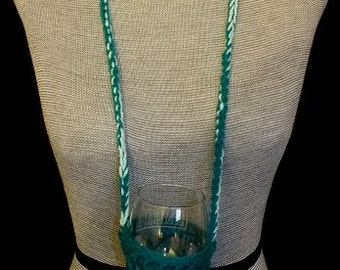 HD-124 - Dark Green & Mint Green Lanyard