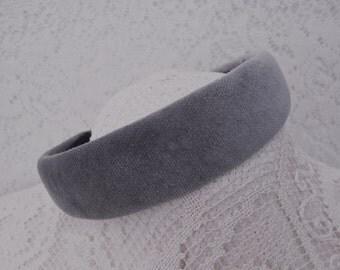 grey velvet headband
