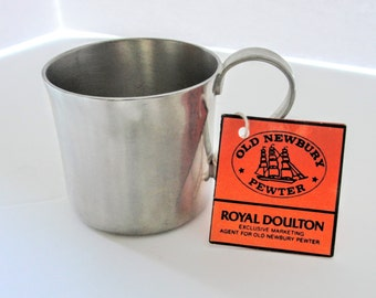 Royal Doulton Baby Cup Vintage Old Newbury Pewter