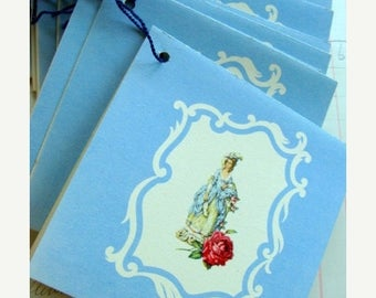 ONSALE Beautiful Antique Antoinette Tally Cards lot Tallies