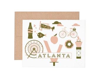 Atlanta Letterpress Greeting Card - Blank Card | Greeting Cards |