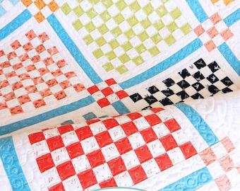 Patchwork Garden quilt PDF pattern