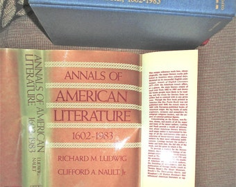 Annals of American Literature 1602 - 1983, 1986 Richard Ludwig Clifford Nault,  Reference Chronological list of Major Literary Works Indexed