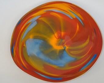 Wall Art Glass Blown Platter 627