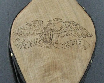 Woodburned Eagle Fireplace Bellows