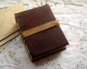 Tete a Tete - Antique Fabric Journal, Tea Stained Pages, OOAK