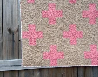 Super Mod Plus Quilt Pattern, Crib Size
