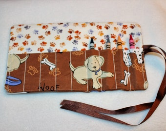 Puppy Crayon Roll Up