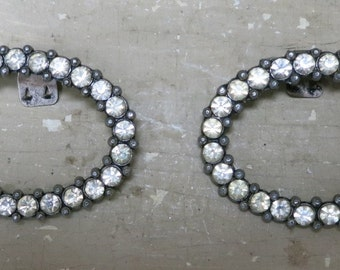 A Pair of Vintage Rhinestone Shoe Clips