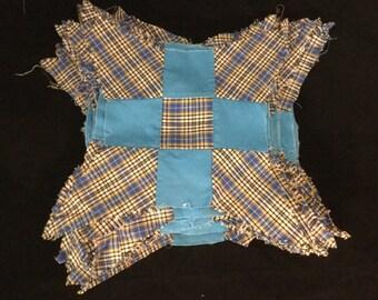 Vintage Quilt Blocks, Nine Patch, Four Point Star, Twenty Seven Blocks