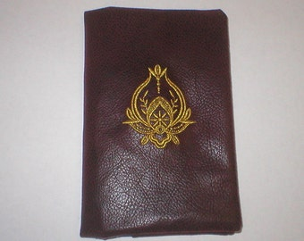 Address book cover and book