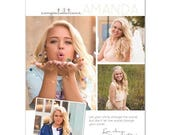 50% Off - Senior Yearbook Ads Photoshop Templates - Your Smile - High School Yearbook Ad Custom Design