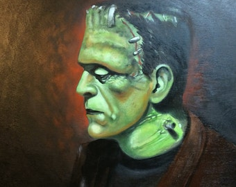 The monster- frankenstein- artist signed print