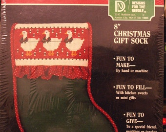 "Design For The Needle Christmas Stocking 8"" Cross Stitch Kit Gift Sock"