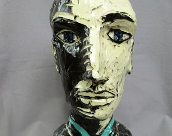 VTG male head vase....the shadow side