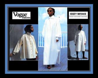 Vintage 1995-ISSEY MIYAKE ORIGINAL-Vogue Designer Sewing Pattern-Dress-Tunic-Blouse-Couture Design Details-Uncut-Size 18-Mega Rare