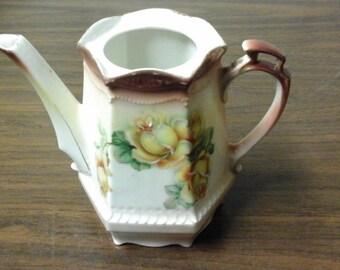 Vintage German Yellow Rose Teapot