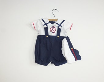 Vintage Boys New Old Stock Nautical Romper