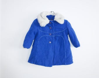 Vintage Royal Blue Toddler Jacket