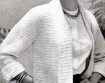 All Around Favorite Sweater Jacket Crochet Pattern 723016