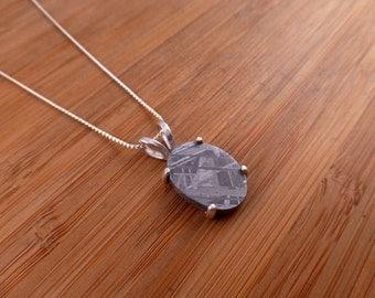 Muonionalusta Iron Meteorite  Silver Pendant