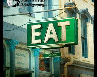 EAT 12x12 ttv photograph print