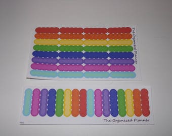 Full Color Rainbow Bubble Appointment Label Stickers / Great for your Erin Condren Life Planner, Happy Planner, and more!
