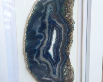 SMALL Navy Agate Frame 9 x 7