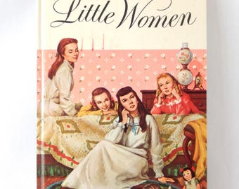 Little Women, vintage book, 1963 Golden Press hardcover, illustrated in full, fiction