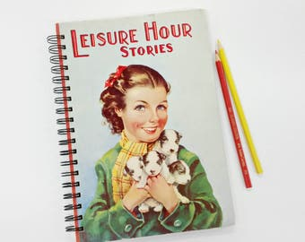 Leisure Hour Stories, Recycled Book Journal & Notebook