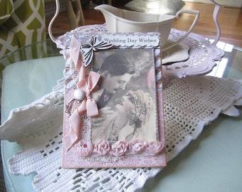 Handmade Wedding Card - Victorian Wedding Card