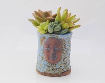 ceramic planter pot tiny garden buddha head planter