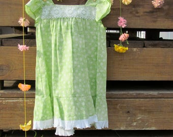 Bright Green Sundress/Top, Toddlers' Dress Size 3 - 4, Girls' Short Dress Size 5