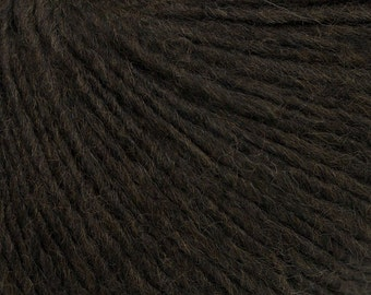 Very Dark Brown - Peruvian Alpaca/Merino Sock Knitting Yarn, 50 grams