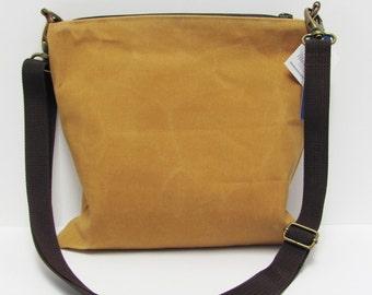 Waxed Canvas Crossbody Bag