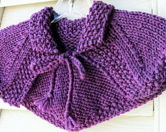 Claire Capelet Shawl Outlander Replica Hand Knit Made to Order 8 Colors SuperWash Wool