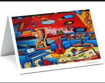 Cards, Blank Cards,  Handmade Cards, Greeting Cards, Paper, Art Cards, Card, Greeting Card, Kandinsky