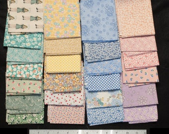Adorable Soft and Bright Colored Calicos for Quilting Quilters in 25  Fat Quarters