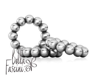 Petite Bubbles Bead Charm Spacers - Silver Set - 925 Silver - Fits Pandora and Compatible European Brand Bracelets - BELLA FASCINI® F-07