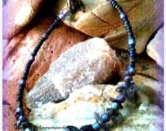 Xmas Sale Beaded  Iolite Chakra Bracelet,Chakra Jewelry,Chakra Stone Bracelet,Gemstone Bracelet, Gifts for Her, Direct Checkout, Ready to sh