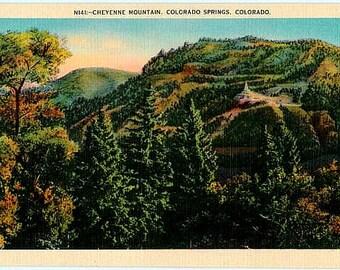 Vintage Colorado Postcard - Cheyenne Mountain, Colorado Springs (Unused)