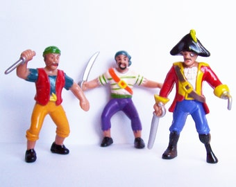 3 Pirate Cake Toppers