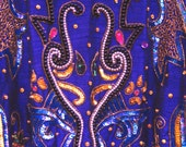 XL PURPLE Military style Trophy Beaded Jacket, 1980s 80s sequined jacket in dark grape purple, Gold Sequins, Gold Flowers, Pearl Beaded