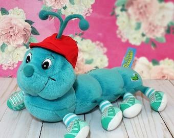 Lots a Lots a Leggggggs Plush Caterpillar Stuffed Animal toy Plushie 8 legs CAPPER Commonwealth 90s toy bug lovie
