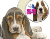 Basset Hound ORIGINAL NOSE BUTTER® Handcrafted Balm for Dry, Cracked Dog Noses Choice of 1 oz, 2 oz or 4 oz Tin with Basset on Label